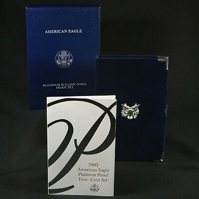 2003-W 4 Coin Proof Platinum American Eagle Box OGP & COA No Coins