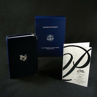 2008-W 4 Coin Proof Platinum American Eagle Box OGP & COA No Coins