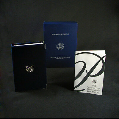 2004-W 4 Coin Proof Platinum American Eagle Box OGP & COA No Coins
