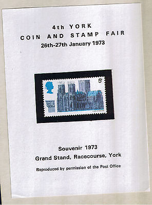UK Reproduction on SSheet 1973 4th YORK COIN AND STAMP FAIR Mint ~Free Shipping~