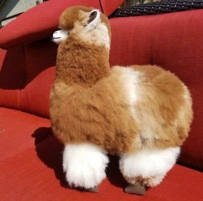 "Handmade Alpaca Llama Stuffed  Made in Perú (17 ""x13"")"