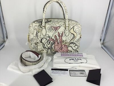282c2ffa60a1cc Prada X James Jean Bunny Rabbit Liberty Bauletto Bag Same Style Bag as  Fairy Med