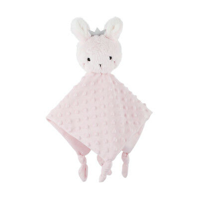 Personalised Custom Embroidered Baby Cuddle Blanket Toy Bunny Pink