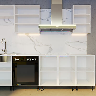 Kitchen Base/Wall/Bridge Units White Cabinets Carcases Drawing Cupboards Clicbox