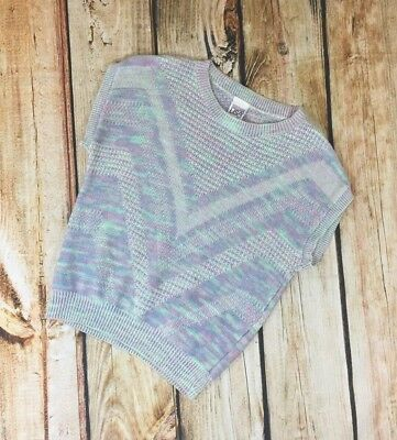 Vintage Sleeveless Pastel Purple Pink Sweater Women's Size M