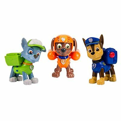 Paw Patrol Chase Rocky and Zuma Action Pack Pup Set