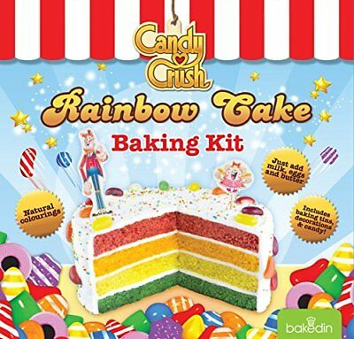 BakedIn Candy Crush Rainbow Cake Baking Kit, 1050 g