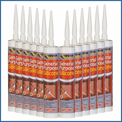 Everbuild General Purpose Brown Silicone Sealant C3 Box Of 12 - New