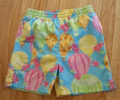 Euc Rare Lilly Pulitzer Balloon Swim Trunks For Boys Or Girls Size Small (4/5)