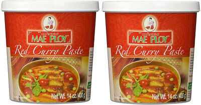 Mae Ploy Thai Red Curry Paste 400 gm x 2 tubs