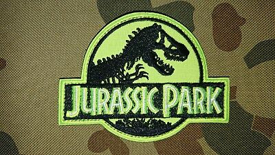 New Jurassic Park Neon Green Tactical Morale Airsoft Hook Patch Australia Seller