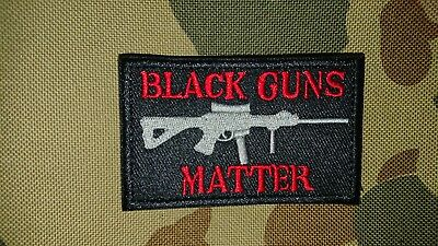 New Black Guns Matter Red Grey Tactical Morale Airsoft Patch Australia Seller