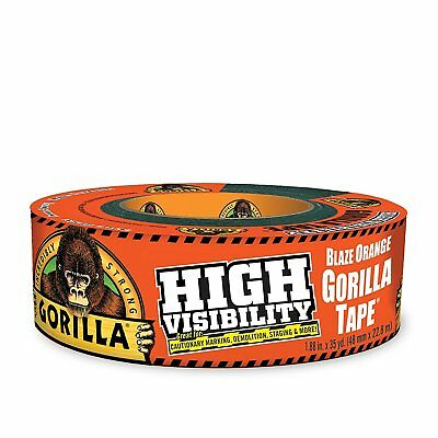 "Gorilla Glue 6004002 Tape, High Visibility Duct tape, 1.88""x35 yd, Blaze Orange"