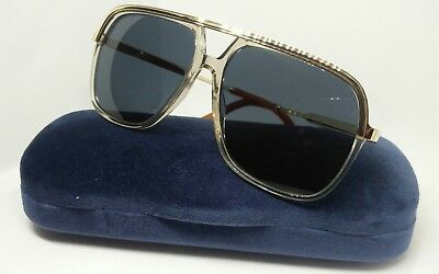 708ea44c481 Gucci Men s Gold Clear Modern Pilot Sunglasses GG0200S 004 - Made In Japan  💯%