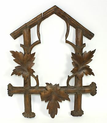 ANTIQUE VERY LARGE and NICE CUCKOO CLOCK CASE FRAME - MX50
