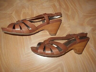 9786589b919 WOMEN'S WHITE MOUNTAIN Tan Leather Sandals - Size 9.5 M - $8.99 ...