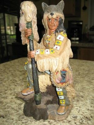 "Native American Figurine - 9"" Tall ( Native American Brave)"