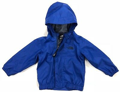 The North Face Infant Baby 6-12 Months Blue Rain Shell Hoodie Dryvent Jacket