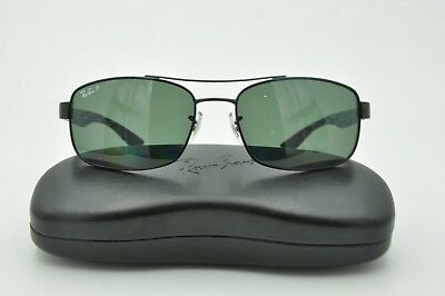 6de10c0d05b98 Ray Ban RB 8316 Sunglasses 002 N5 Carbon Fiber Black   Green Polarized 62mm