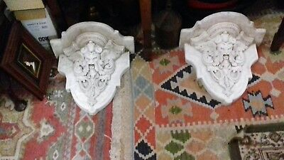 Antique Stone Corbels Depicting Mythical creatures
