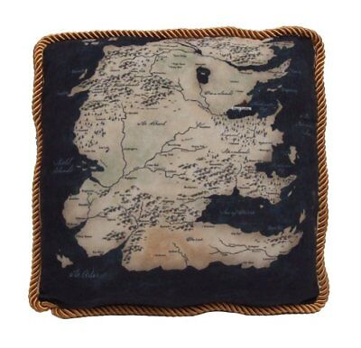 Game of Thrones Westeros Map Throw Pillow South