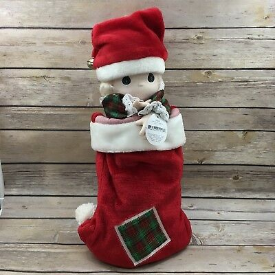 Retired Precious Moments 1997 Jingles Christmas Stocking 17""