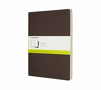 Moleskine Coffee Brown Extra Large Plain Cahier Journal Set of 3