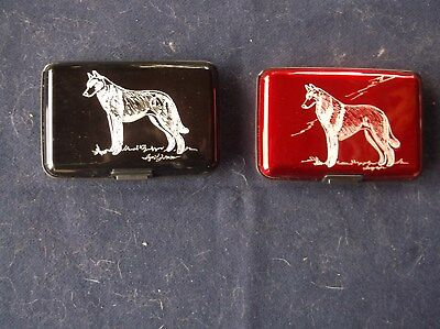 Belgian Malinois- Hand engraved Stainless Credit Card Case by Ingrid Jonsson