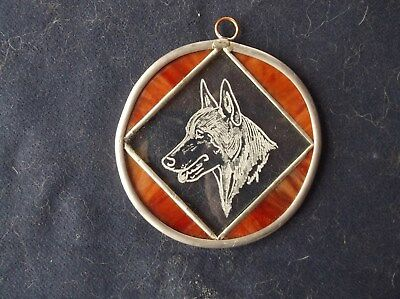 Belgian Sheepdog- Beautifully hand engraved Otnament  by Ingrid Jonsson