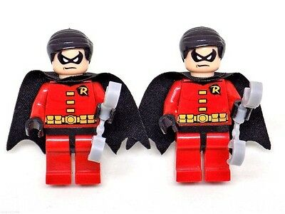 Handmade LEGO® Robin Super Hero Cufflinks, Silver Plated Toggles, Gift Boxed!