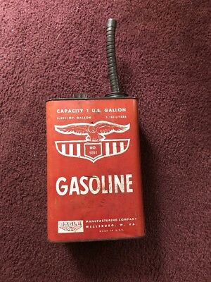 Vintage Oil Can E-Z Pour Gasoline Filler # 1001 by Eagle Mfg. Wellsburg, West Va