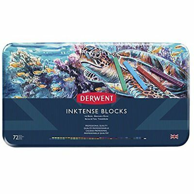 Derwent Inktense Permanent Watercolour Blocks, Set of 72, Professional Quality,