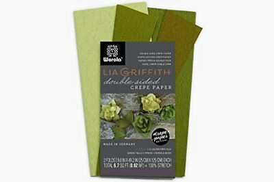 Lia Griffith Extra Fine Crepe Double Sided Paper - 4 colours per pack Green Tea