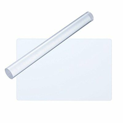 ULTNICE 2pcs Clay Rolling Pin Acrylic Clay Roller Rectangle Acrylic Sheet Board