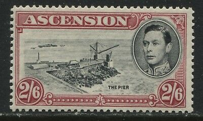 Ascension 1944 KGVI 2/6d perf 13 1/2 mint o.g.