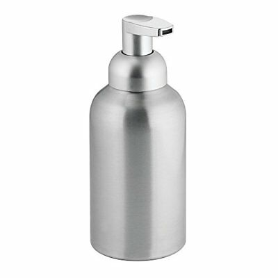 InterDesign Metro Foaming Liquid Soap Dispenser Pump, Made of Aluminium and Plas