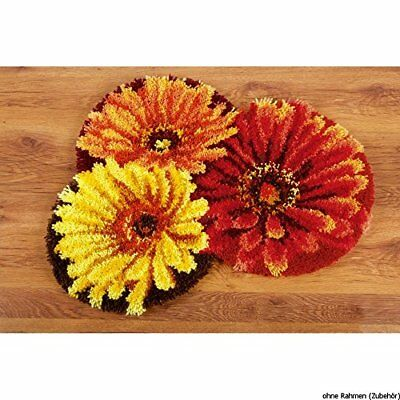 Vervaco Latch Hook Shaped Rug FLOWERCARPET