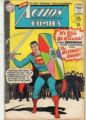 Action Comics # 329 / Dc 1965 / V.good+ / The Ultimate Enemy.