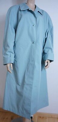 VINTAGE 90er ★ Big Fashion MANTEL Trenchcoat Gr. 48 Mintfarben Grün TOP ZUSTAND