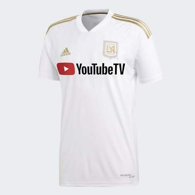 1ae38b9a7beb6 ADIDAS MEN S 2018 LAFC Away Stadium Jersey (White Dark Gold) CE3281 ...