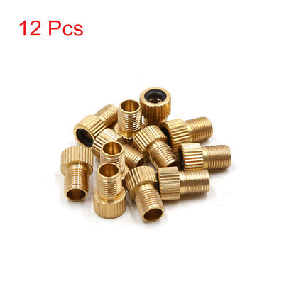 12pcs Copper Bicycle Tire Nozzle Air Valve Conversion Head Adapter Converter