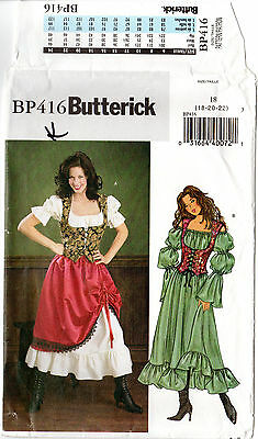 "Butterick Sewing Pattern BP416 ""Misses'/Misses' Petite Costume"" 18-22 Halloween"