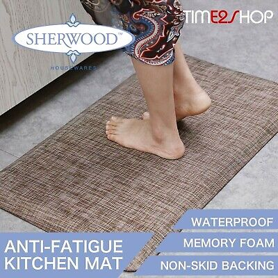LARGE BROWN Floor Mats Anti-Fatigue All Purpose Kitchen Anti-Slip Mat Latte Rug