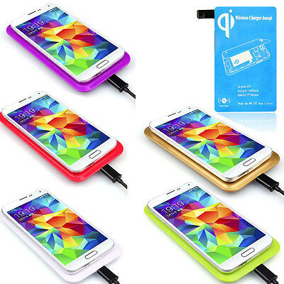 1Set Qi Wireless Charger Charging Pad+Receiver Kit For Samsung Galaxy S5 i9600