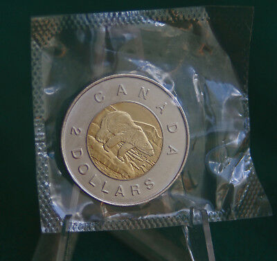 1997 Canada $2 toonie polar bear design from prooflike set still sealed