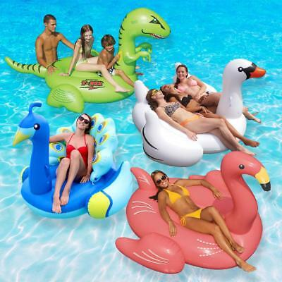 Swimming Pool Float Combo Inflatable Boat Animal Kingdom Value Pack (4-Piece)