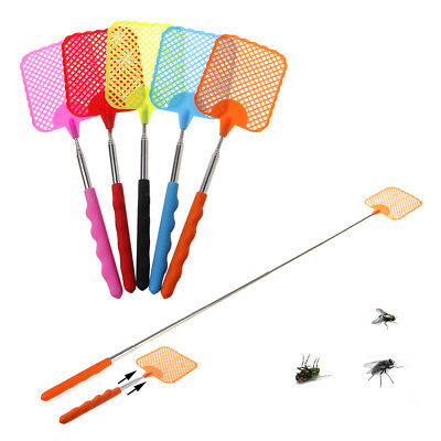 Useful Pest Control Tool Extendable Flies Swatter Telescopic Mosquito Killer