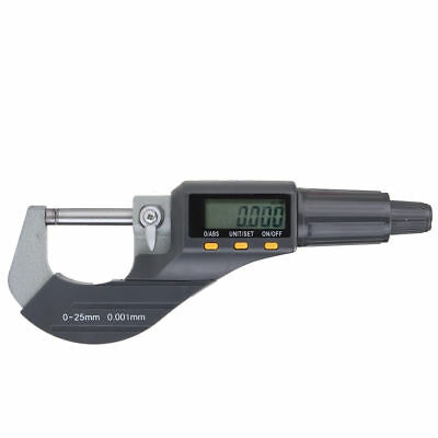 "0-25mm 0.00005"" LCD Digital Electronic Micrometer Carbide Precision Measuri Tool"