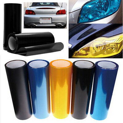 30x60cm Car Vehicle Shade Taillight Headlight PVC Foil Vinyl Film Cover 5 Color