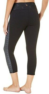 188335996465f Gaiam Womens Capri Yoga Pants - Performance Spandex Compression Legging -  Small